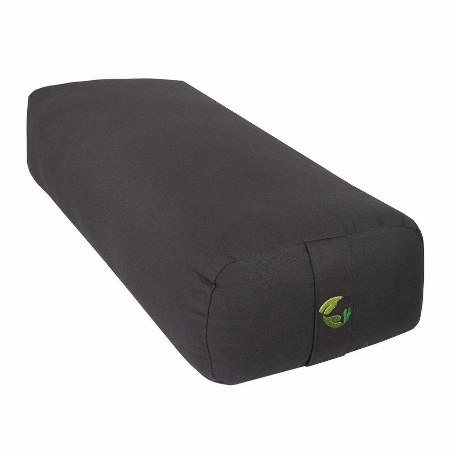 rectangular yoga bolster - antraciet