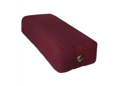 Ecoyogi rectangular yoga bolster - bordeaux