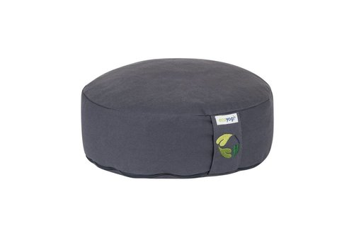 Ecoyogi meditatiekussen rond  laag Stone - 10-12 cm