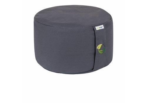 Ecoyogi meditatiekussen rond hoog - Stone - 18-20 cm