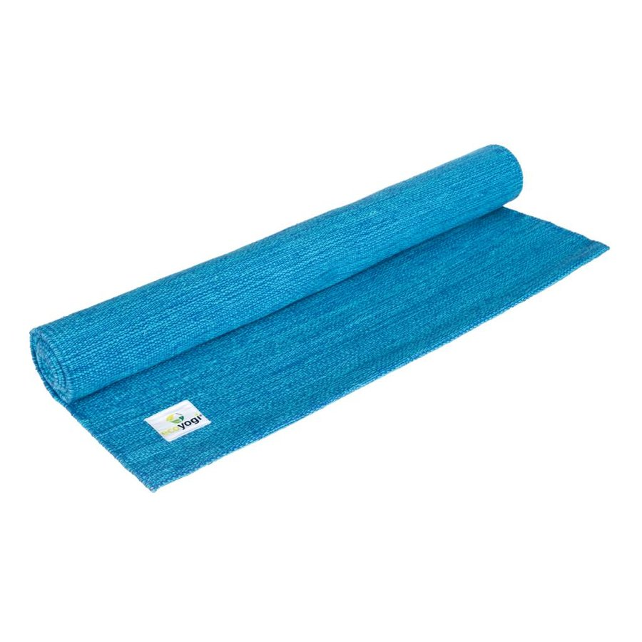 Organic Cotton Yoga Mat - Blue
