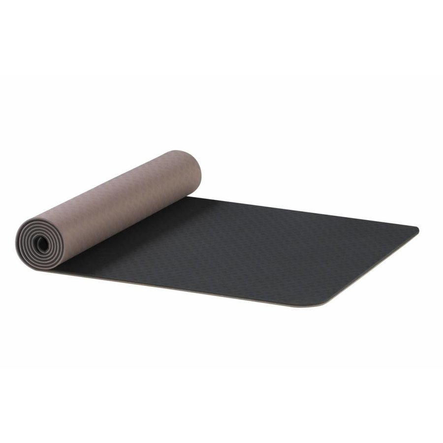 Earth TPE Yoga Mat - Antraciet-bruin 6 mm