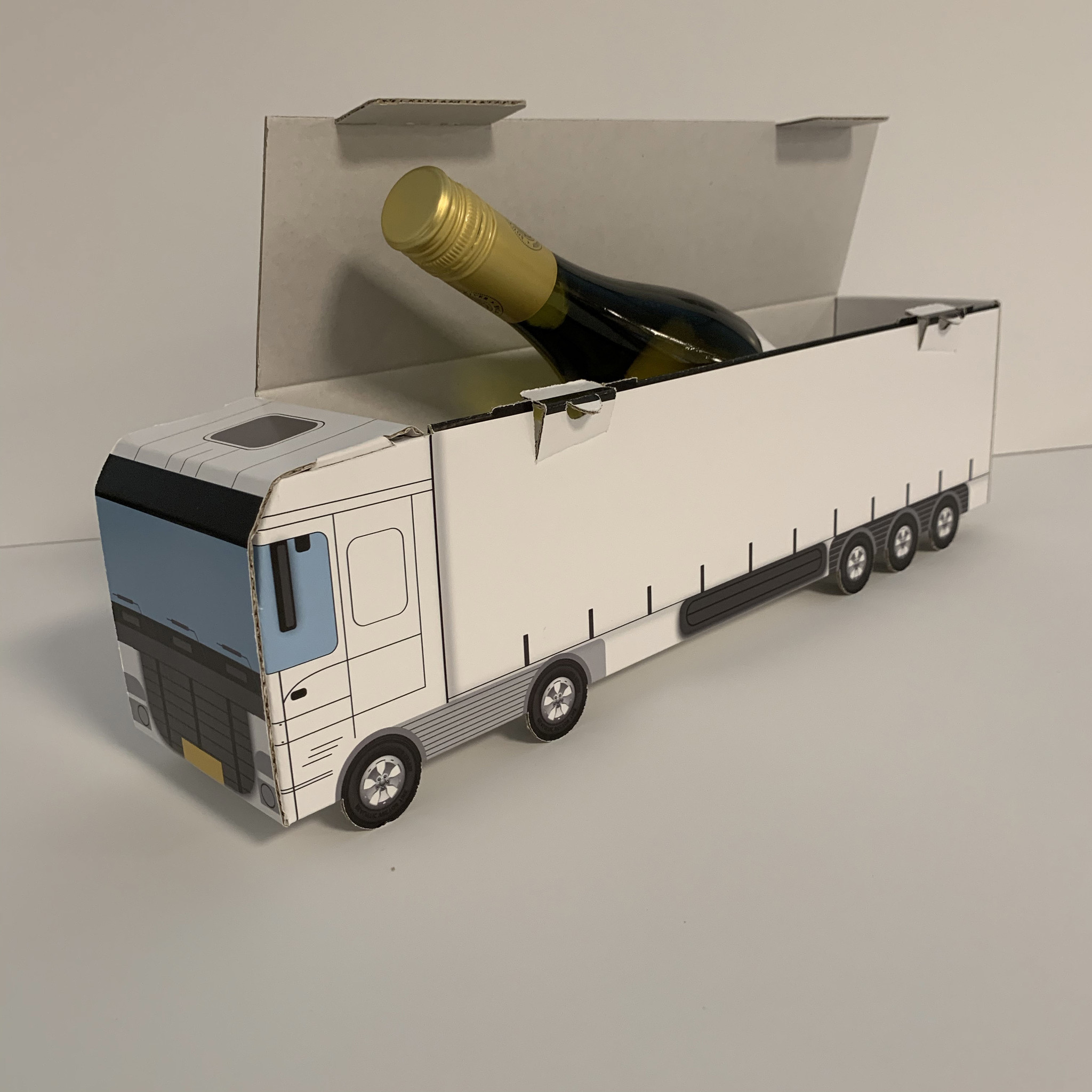 Wijnfles verpakking op maat gemaakt !