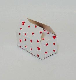Ballotin tbv 2 bonbon hartjes (10stuks)