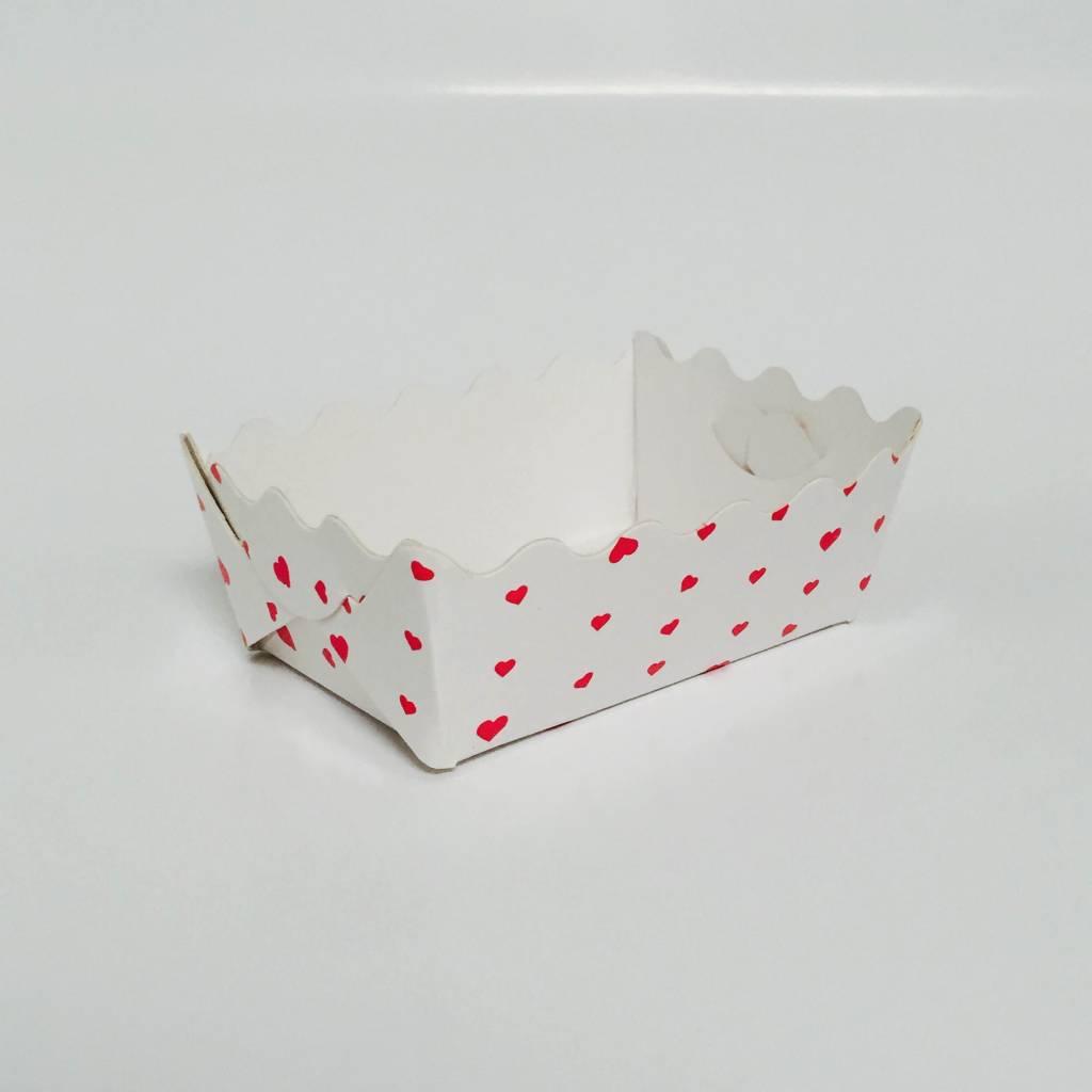 Golfbakje NR.1 wit bedrukt met hartjes (50stuks)