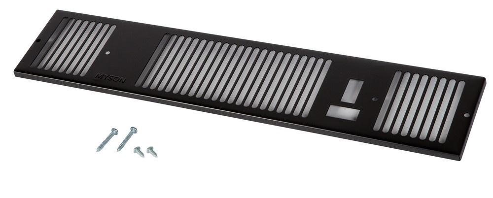 Remeha Kickspace Grille 600 zwart S101822
