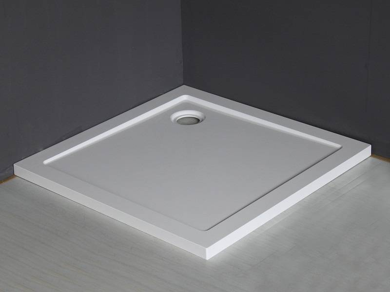 Wiesbaden Luxe douchebak SMC vierkant 900x900x4 wit