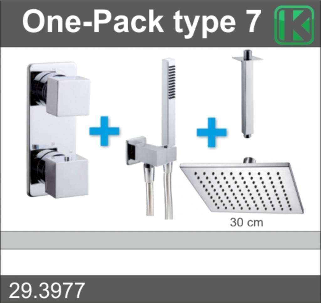 Wiesbaden One-Pack inbouwthermostaatset vierk.type 7 (30cm)