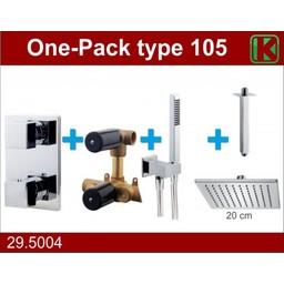 Wiesbaden One-Pack inbouwthermostaatset vierk.type 105 (20cm)