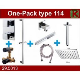 Wiesbaden One-Pack inbouwthermostaatset type 114 (30cm)