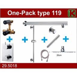 Wiesbaden One-Pack inbouwthermostaatset type  119 (20cm ufo)