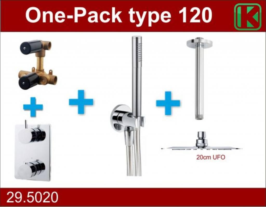 Wiesbaden One-Pack inbouwthermostaatset type 120 (20cm ufo)