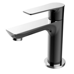 "Wiesbaden Casma toiletkraan 1/2"" zwart/chroom"