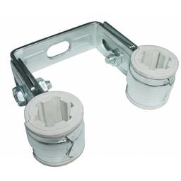 Walraven BIS Duplo dubbele pijpbeugel 15mm PVC inlage