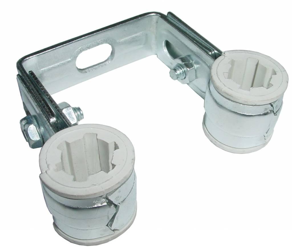 Walraven BIS Duplo dubbele pijpbeugel 22mm PVC inlage