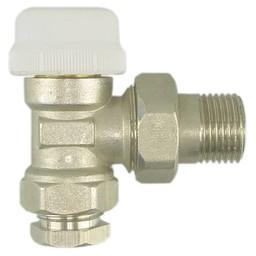 Riko Riko thermostatische radiatorkraan inc. adapter 15mm 1/2 haaks