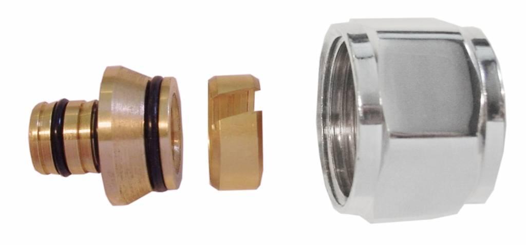 Riko Riko luxe adapter chroom 3/4-16x2 voor luxe onderblokken