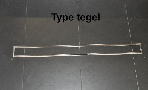 Wiesbaden RVS douchegoot 120 cm breed, met vloerflens, inbouwdiepte 67mm