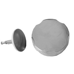 Saniglow Losse plug + draaiknop  tbv badwaste chroom