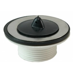 "Saniglow Losse kunststof plug+kett. 5/4""x60mm wit"