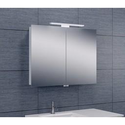 Wiesbaden Luxe spiegelkast +Led verlichting 80x60x14cm