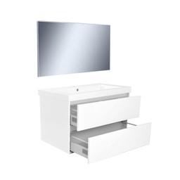 Wiesbaden Vision meubelset (incl. spiegel) 80 cm wit