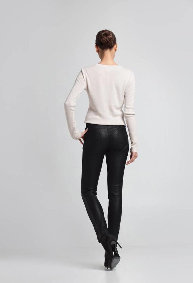 ZINGA Leather Echt suède broek dames zwart | Felice 4999