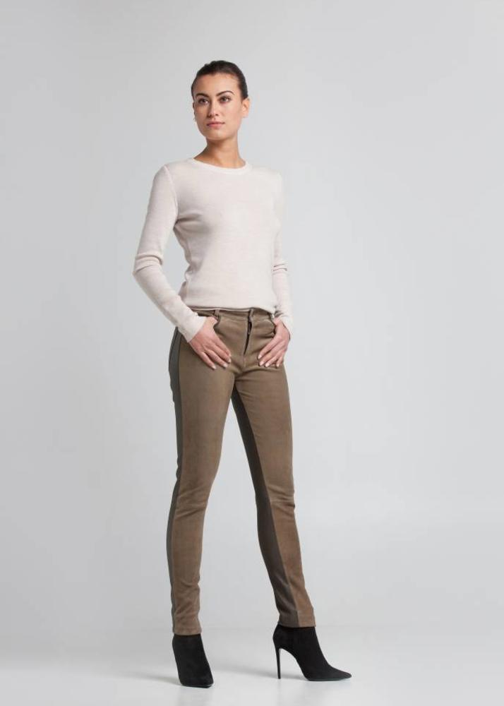FELICE Olivgrüne 5-Pocket Hose