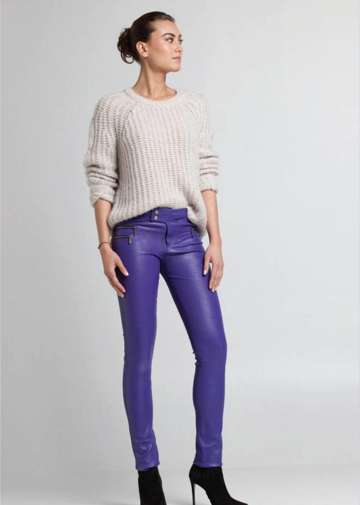 VANESSA Purple Biker pants