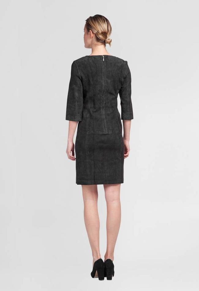 ZINGA Leather Echt Lederkleid Damen velour Dunkelblau   Ava 4200
