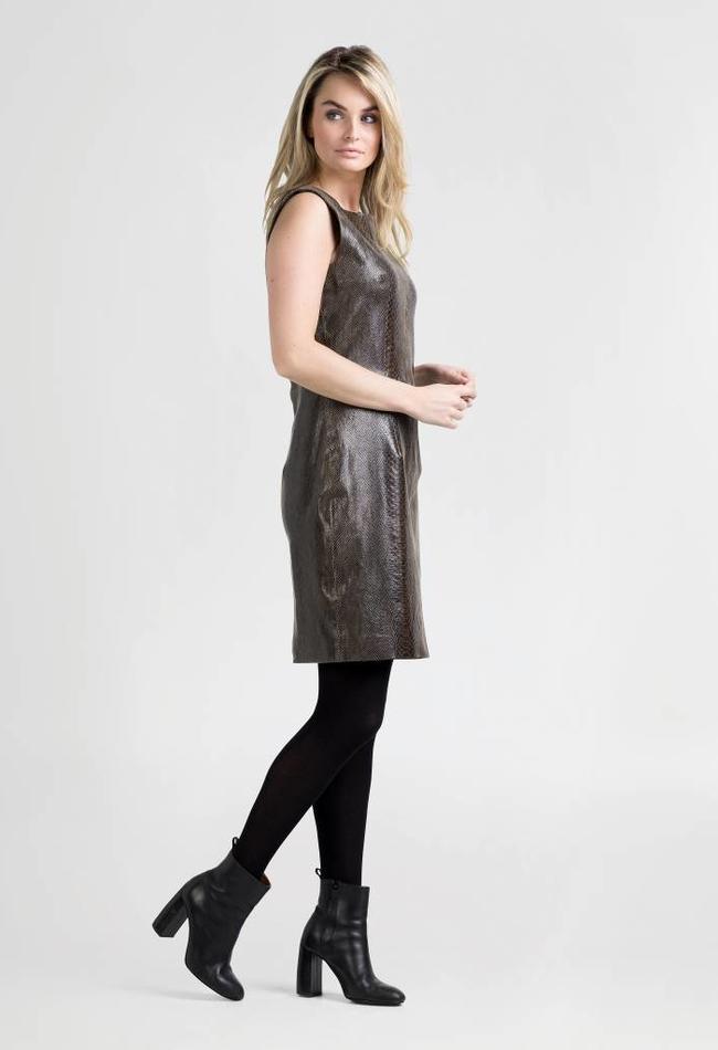 ZINGA Leather Kleid aus echtem Leder Frauen Grüne Python | Allegra 7820