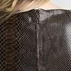 ZINGA Leather ALLEGRA 7820 suede Python jurk