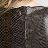 ZINGA Leather Jurk echt leer dames Groene python | Allegra 7820