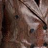 ZINGA Leather Echt Leder Bläser Damen Python Braun   Lauren 7116