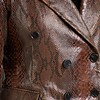 ZINGA Leather LAUREN 7116 suede printed Python blazer