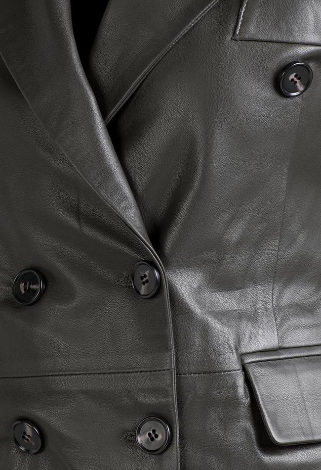 ZINGA Leather Echt leren blazer dames groen | Helena 5820