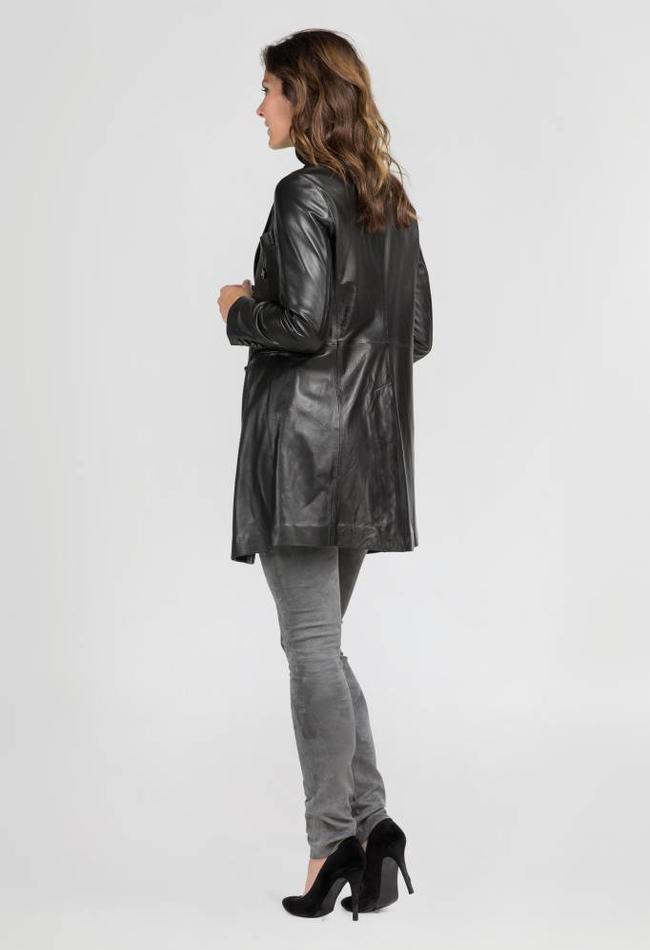 ZINGA Leather Echt leren blazer dames zwart | Helena 5999
