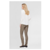 UMA 6340 Stretch leather legging with high waist and elastic waistband.