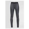 UMA 6350 Stretch leather legging with high waist and elastic waistband.
