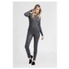 ZINGA Leather Real leather legging women dark gray | Uma 6350