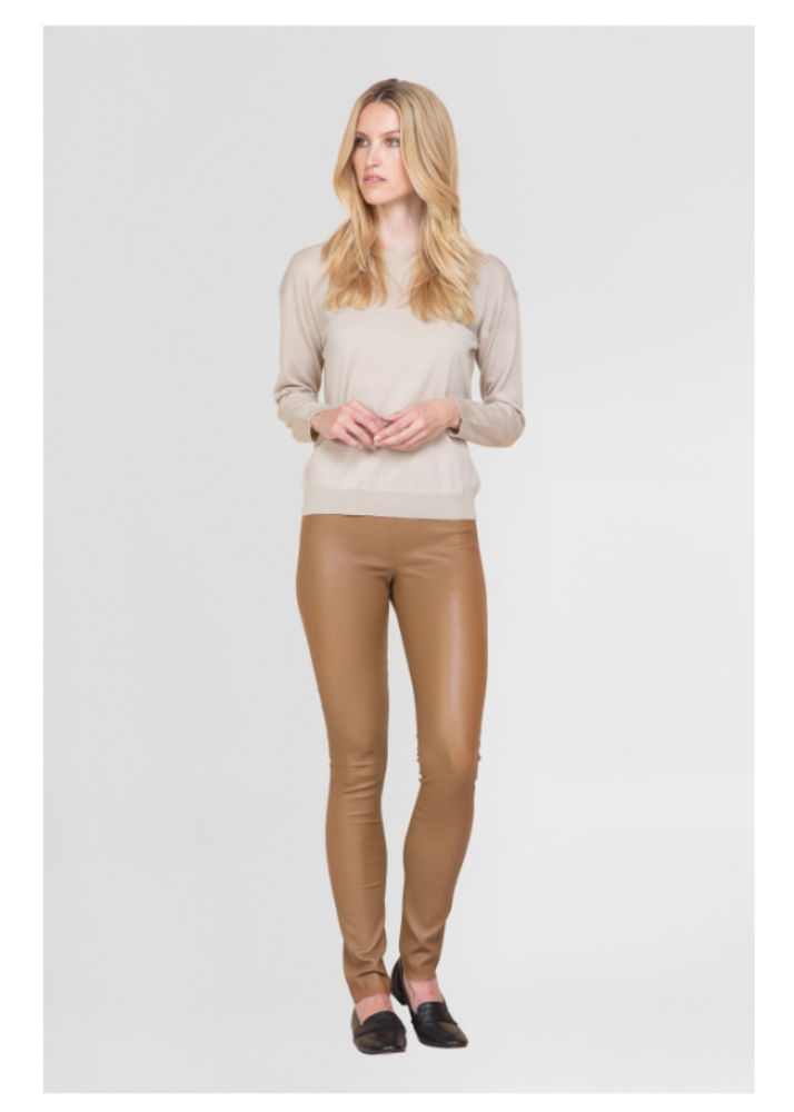 Lederleggings UMA Cognac Kroko - Copy
