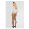 UMA 6500 Stretch leather legging; high waist and elastic waistband.