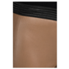 ZINGA Leather Real leather legging women cognac | Uma 6500