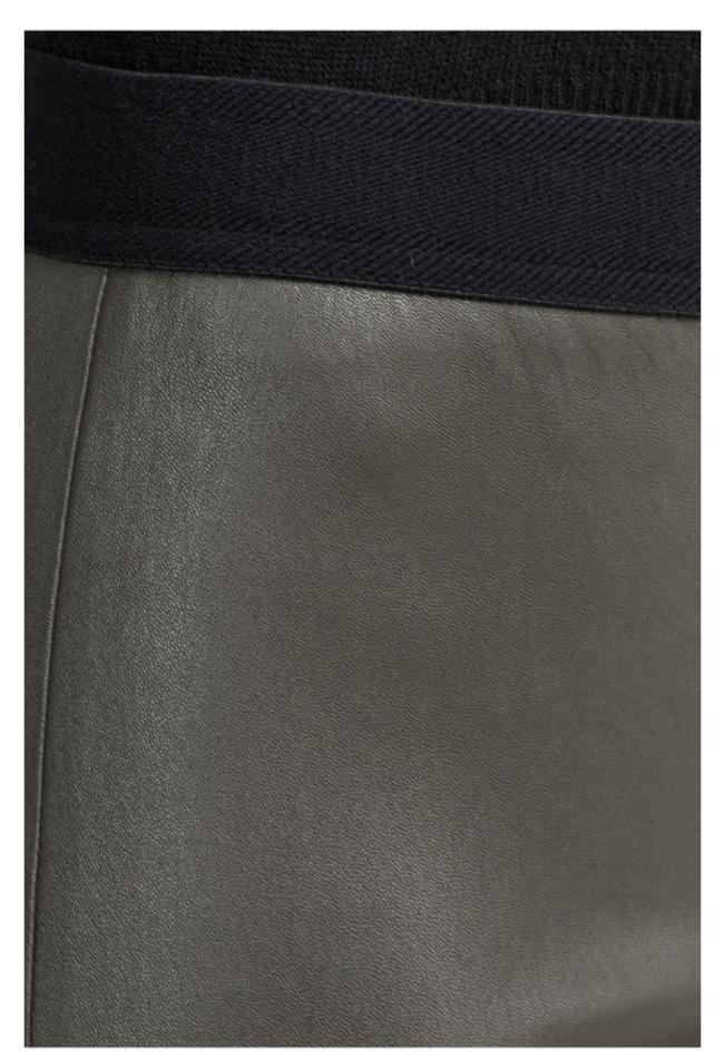 ZINGA Leather Real leather legging women green | Uma 6820
