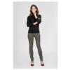 UMA 6820 Stretch leather legging with high waist and elastic waistband.