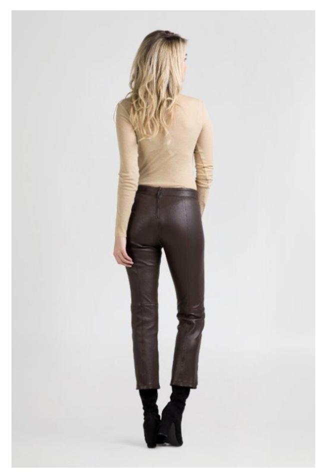 ZINGA Leather Echt leren broek dames bruin | Birken 6116