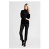 ZINGA Leather Echt Lederhose Damen velour Schwarz | Birken 4999