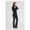 Black Suede Flare Pants FLO 4999