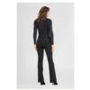 ZINGA Leather Flare broek echt suède dames zwart | Flo 4999