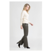 FLO 6820 Stretch Leather Flare Pants.